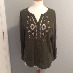 Army Green RXB Aztec Tunic